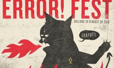 El cartel de este año muestra un gato con una cruz invertida en la frente sacando fuego por la boca