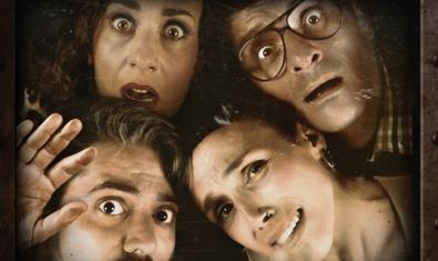 Els quatre intèrprets de la comèdia 'Escape Room'