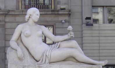 Obra de Frederic Marès dedicada al pintor i escenògraf Francesc Soler i Rovirosa