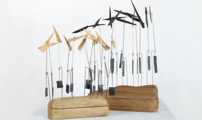 Una de las esculturas de Lorenzo Cambin expuestas
