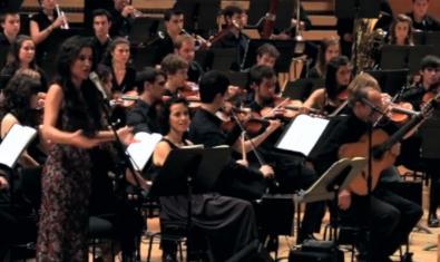 Sílvia Pérez Cruz i alumnes de l'ESMUC en un dels concerts que es poden veure a YouTube
