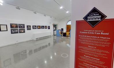 Vista de la sala de exposiciones del centro en la visita virtual colgada en la red