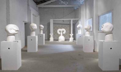 Una vista general del interior de este espacio de arte del distrito de Sant Andreu