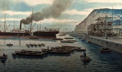 La pintura de l'artista A. Casals que centra l'exposició en línia 'Descobrint la Barcelona de 1912'