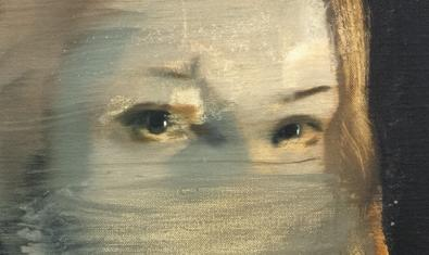 Detall d'una pintura de Julia Santa Olalla que es pot veure a l'exposició