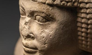 Detall d'una de les estàtues de la mostra temporal