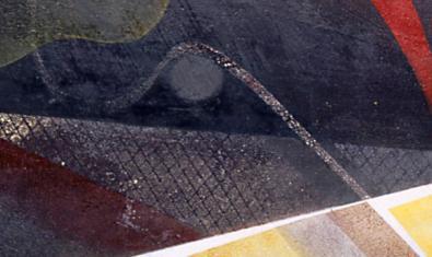 Detall d'una de les obres de la sèrie pictòrica 'Plurivisions'