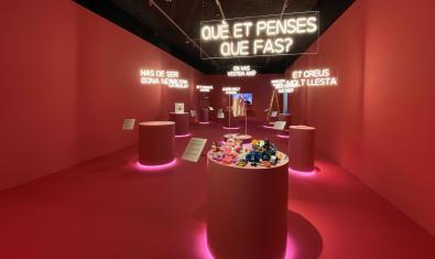 """Un dels espais de l'exposició """"Feminista havies de ser"""""""