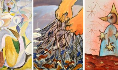 Tres obras forman parte del cartel de la exposición 'Ventana abierta'