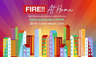 Cartell de la mostra FIRE!! at home