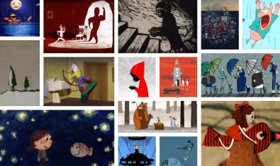 Un 'collage' de algunas de las películas disponibles online.