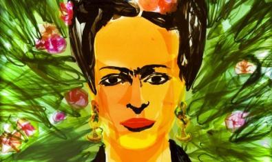 Retrato de Frida Kahlo hecho por Mario Pasqualotto.