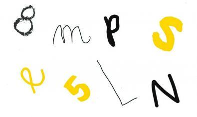 Letras, números y colores, para empezar a crear.