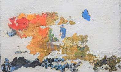 'Sin título', mixta sobre tela, 60 × 80 cm. De Garikoitz Cuevas