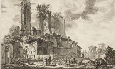Grabado de Giambattista Piranesi