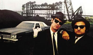 John Belushi y Dan Aykroyd en 'The Blues Brothers'