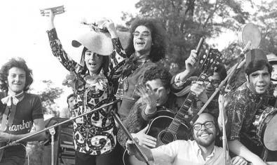 Alguns dels components del Grup de Folk al concert que varen fer al parc de la Ciutadella de Barcelona la primavera del 1968