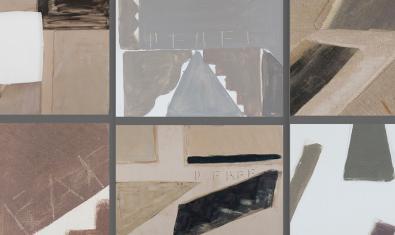 Un collage amb sis de les obres que es poden veure a l'exposició