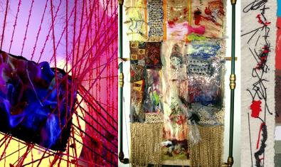 La exposición de tapices contemporáneos estará en el Reial Cercle Artístic hasta el 5 de marzo