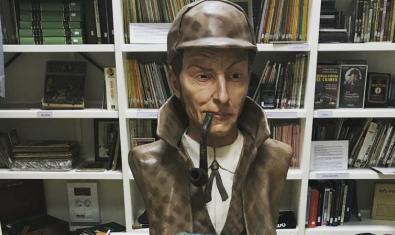 Un bust de Sherlock Holmes de la col·lecció de la Biblioteca Arús