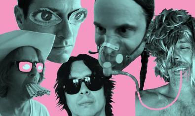 Imagen promocional del grupo Hot Snakes, uno de los cuatro que tocará en el Apolo