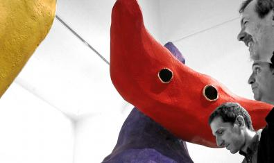 Els components de l'Ignasi Terraza Trio a la Fundació Miró