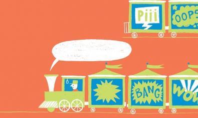 El dibuix d'un tren carregat d'onomatopèies serveix de cartell per a l'edició d'enguany