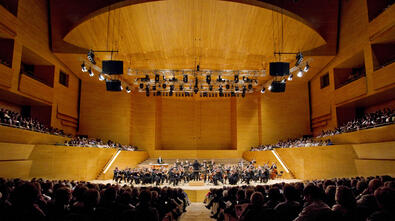 In CMMB's YouTube channel you can watch the Orchestra and Bands' concert at the Auditori. (Photograph of the Auditori)
