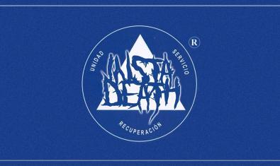 El logotipo creado para anunciar la actividad con las palabras Unidad Servicio y Recuperación sobre un fondo azul