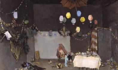 'Interior d'un taller' de Ramon Casas