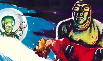 DIbuix d'un extraterrestre segrestant una jove