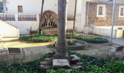Una imatge del jardí on es faran els concerts