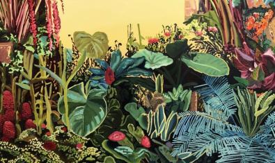 Detall del quadre 'Jardí groc' d'Alejandra Atarés