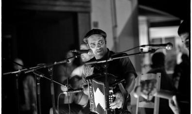 El cantant i acordionista Joan Garriga
