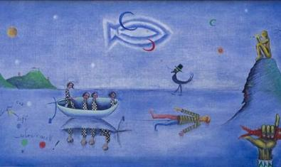 Una de les obres de Joan Ponç exposades a La Pedrera