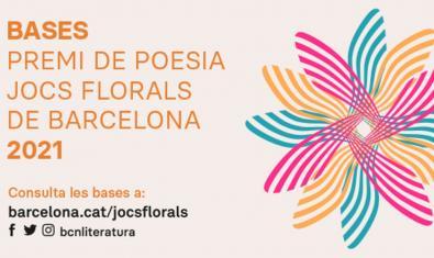 Cartel de la convocatoria de los Jocs Florals de Barcelona 2021