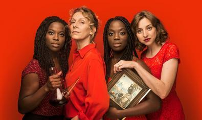 Yolanda Sey, Àngels Gonyalons, Kathy Sey i Anna Moliner, quatre de les actrius de 'Els Jocs Florals de Canprosa'