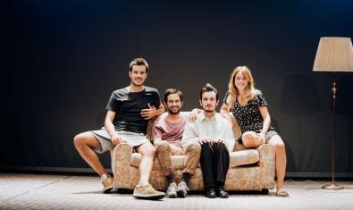 Jaume Casals, Àlex Ferré, Mikel Iglesias i Lídia Casanova a 'Kràmpack'