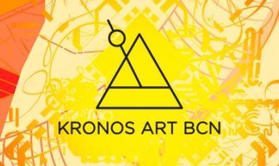 Imatge del cartell d'aquest festival d'art contemporani amb un triangle i una rodona units per una línia que identifiquen la proposta