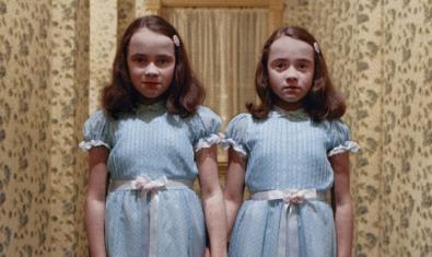 Un dels fotogrames més coneguts dels rodats per Kubrick, corresponent a 'The shining' ('El resplandor')