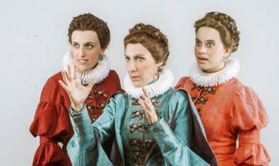 D'esquerra a dreta, les actrius Laura Aubert, Elisabet Casanovas i Marta Pérez a 'La tendresa'