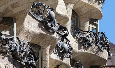 Imagen de los balcones de La Pedrera.