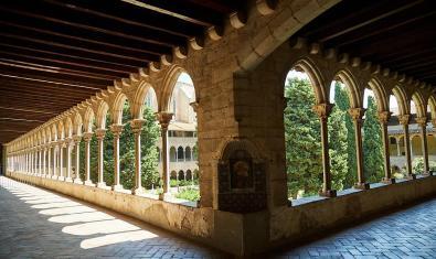 Una imatge del claustre del Monestir de Pedralbes.