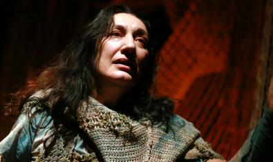 La actriz Olga Vinyals Martori en 'Lampedusa Beach'