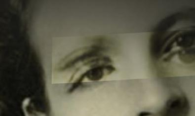 Un fotomontaje que sobrepone dos pares de ojos sobre un mismo rostro en una fotografía antigua sirve para anunciar el concierto