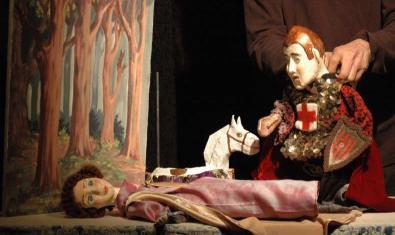 Marionetas de Sant Jordi y de la princesa
