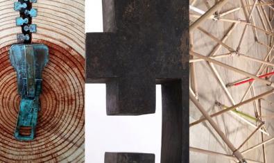 Collage con imágenes de las tres obras seleccionadas para la exposición