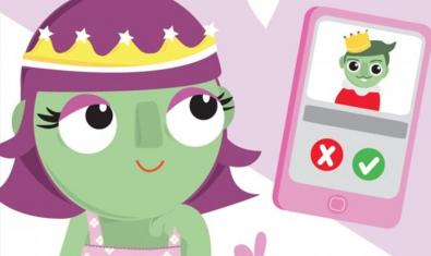 La princesa tiene que dar un 'like' al príncipe.