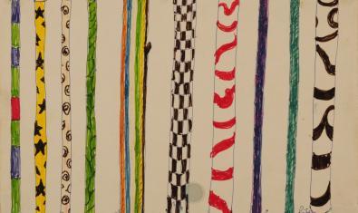 Uno de los dibujos de Lina Bo Bardi presentes en la exposición