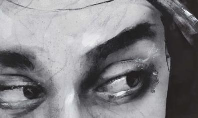 Detall de la mirada pintada per Lita Cabellut.